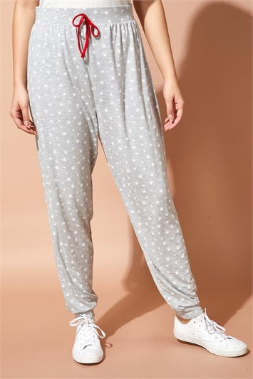 Festive Star Print Lounge Pants