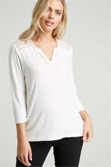 Soft Lace Yoke Shirt