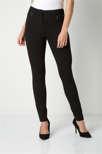 Ponte Zip Trousers