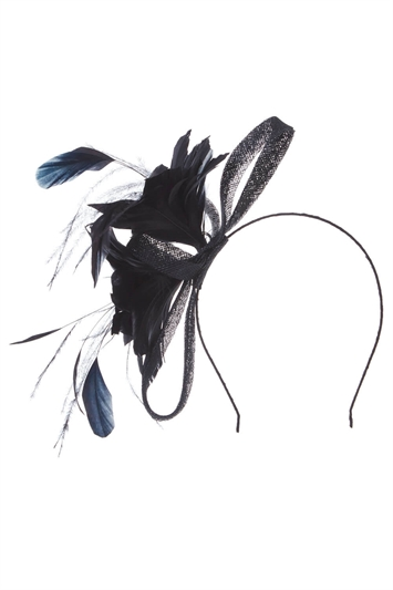 Loop and Feather Band Fascinator