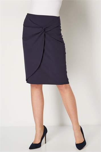 Knot Front Pencil Skirt