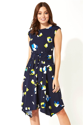 Animal Spot Hanky Hem Dress