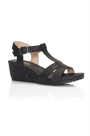 Comfort Wedge T-Bar Sandal