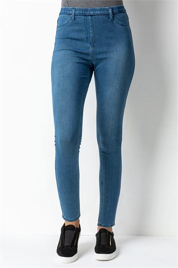 Blue Stretch Jersey Denim Jegging