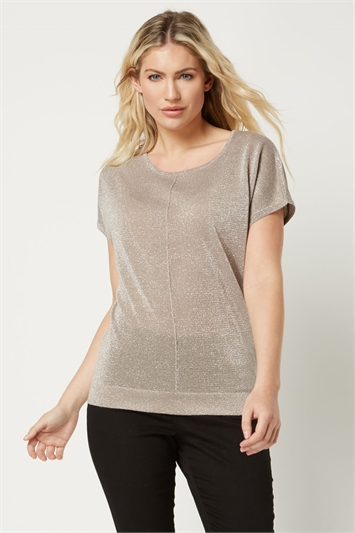 Shimmer Short Sleeve Jumper