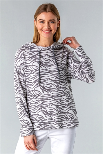 Animal Print Lounge Hoody