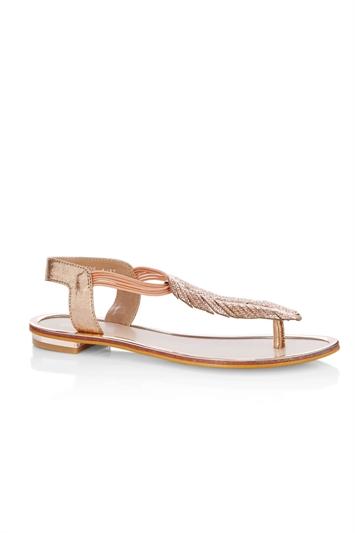 Sparkle Leaf Thong Sandals