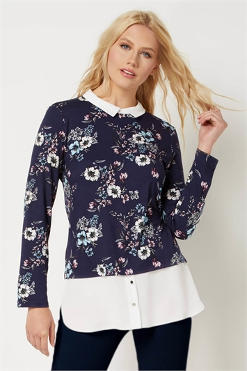 Floral 2-in-1 Shirt