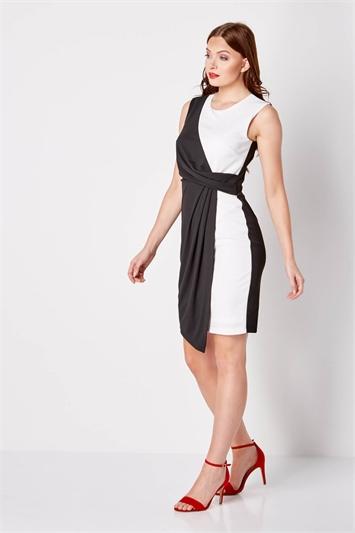 Monochrome Asymmetric Dress
