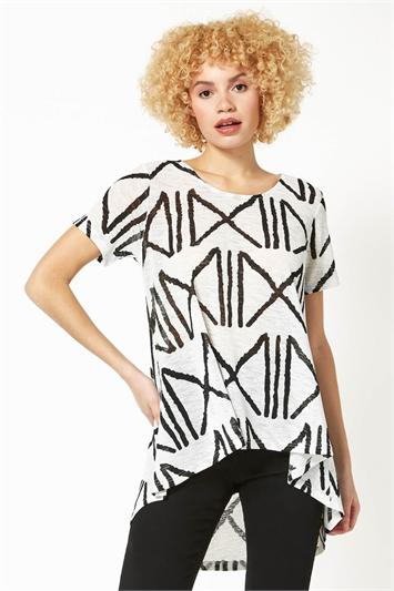 Graphic Line Print T-Shirt