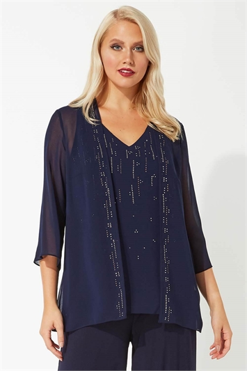 Sparkle Detail Cami Top and Jacket