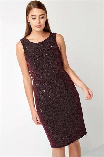 Cowl Back Shimmer Dress