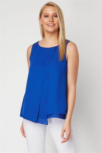 Double Layer Chiffon Top