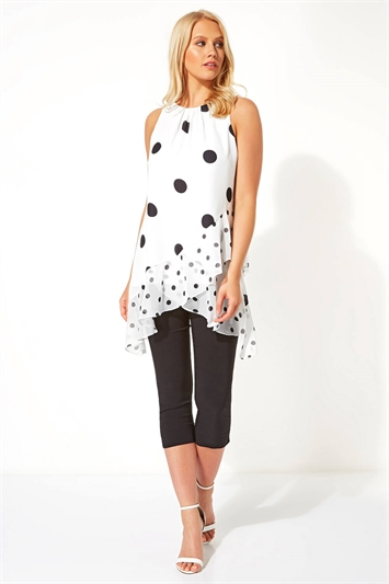 Polka Dot Frill Detail Top
