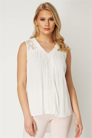 Lace Insert Detail Top