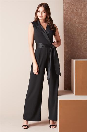 Tuxedo Style Jumpsuit