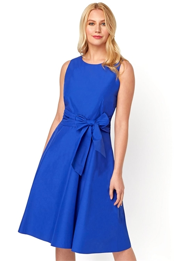 Cotton Tie Waist Midi Dress