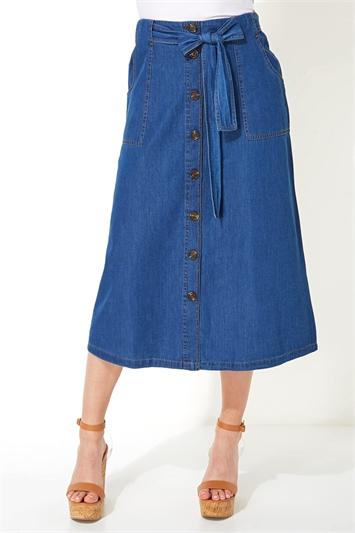 Utility Pocket Button Through Skirt