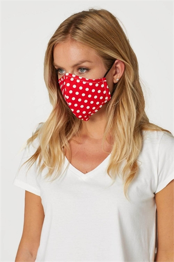 Polka Dot Print Fast Drying Fashion Face Mask