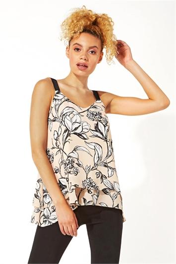 Double Layer Floral Vest Top