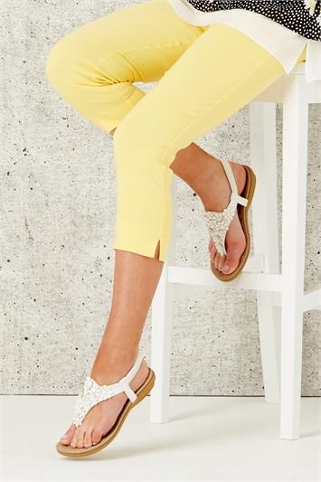 Daisy Embellished Wedge Sandal