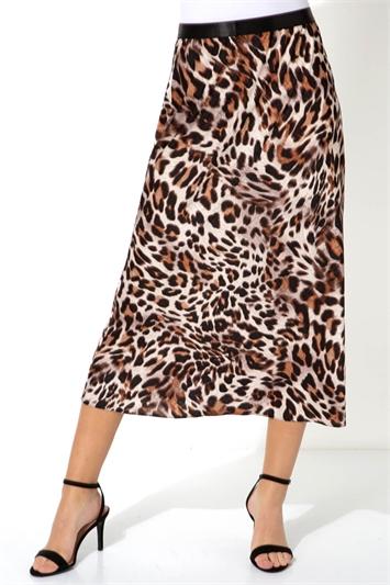 Animal Print Jacquard Midi Skirt