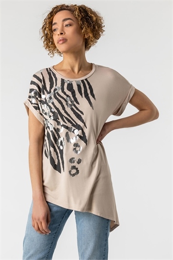 Animal Print Foil T Shirt
