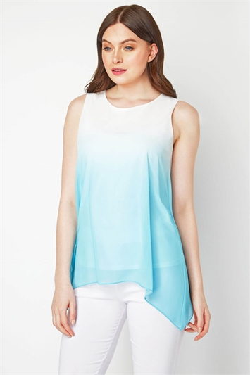 Ombre Print Overlay Top