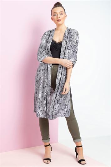 Snake Print 3/4 Sleeve Kimono
