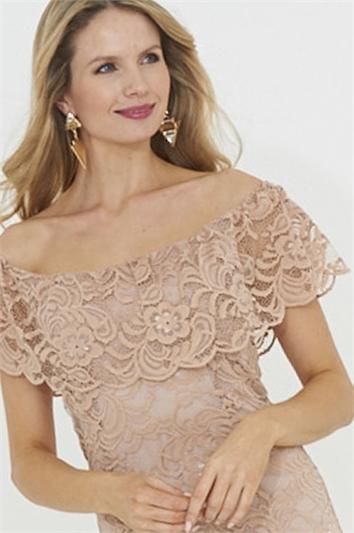 Glitz Lace Bardot Dress