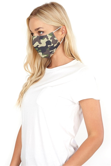 Camouflage Print Fast Drying Fashion Face Mask