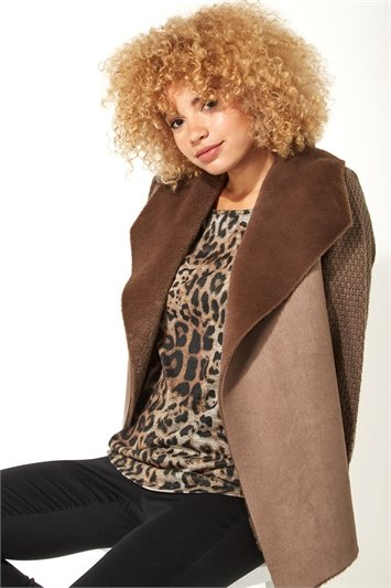 Faux Shearling Coatigan