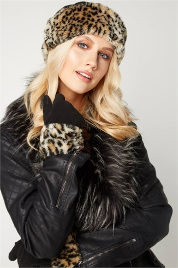Animal Faux Fur Cossack Hat