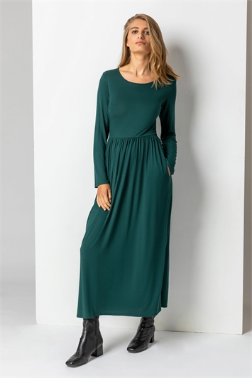 Forest Long Sleeve Jersey Maxi Dress, Image 1 of 5