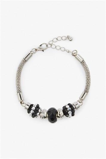 Textured Charm Bead Bracelet