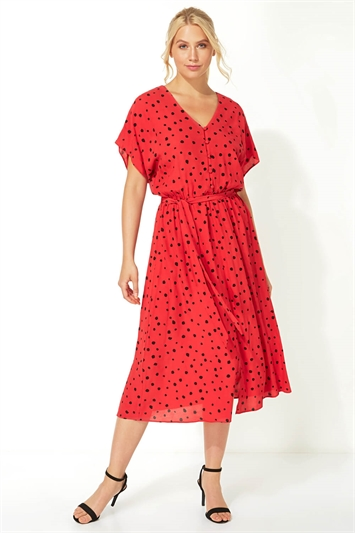 Polka Dot Midi Tea Dress