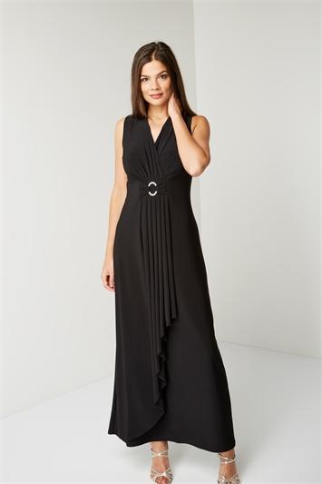 Diamante Buckle Maxi Dress