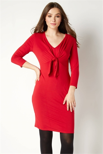 Tie Front Fitted Dress