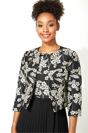 Jacquard Oriental Floral Jacket