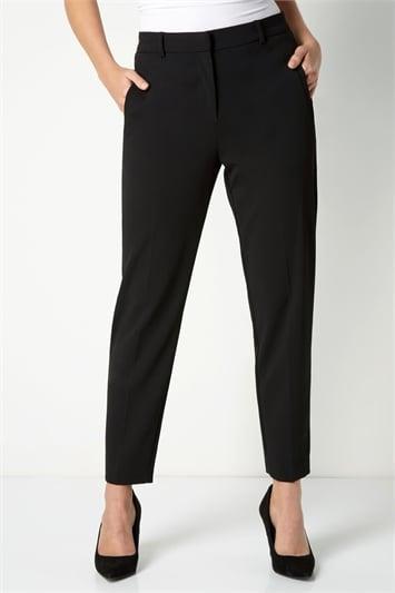Black Long Straight Leg Tapered Trouser, Image 1 of 3