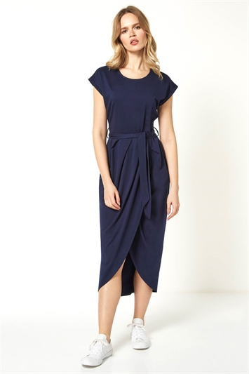 Wrap Skirt Midi Dress