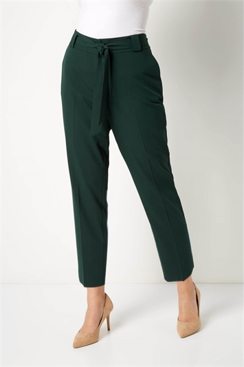 Tapered Belted Trousers