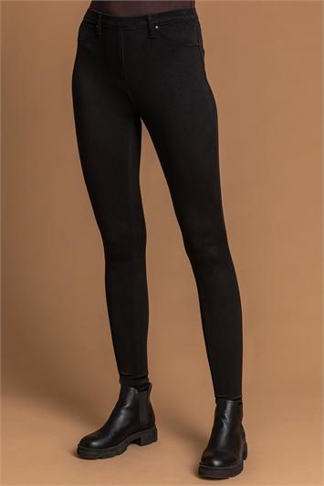 Black Stretch Jersey Denim Jegging