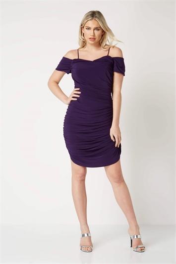 Ruched Off The Shoulder Dress