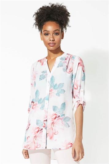 Floral Print Button Through Shirt
