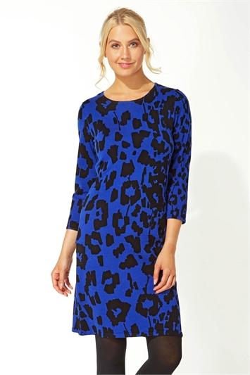 Animal Print Knitted Dress