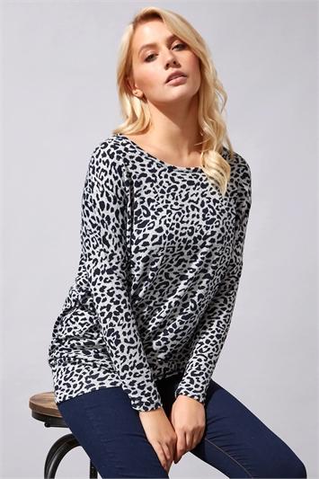 Animal Print Jersey Top