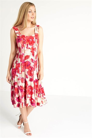 Floral Printed Panel Dress