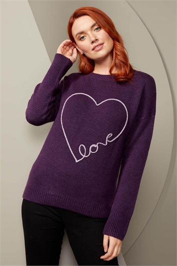 Love Heart Round Neck Jumper