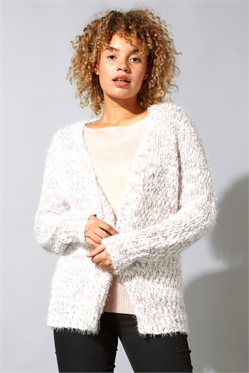 Fluffy Yarn Cardigan